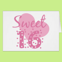Sweet 16 Confetti Card