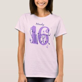 Sweet 16 Custom Name Birthday Gift Grunge Text A04 T-Shirt