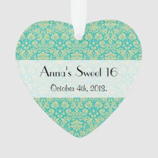 Sweet 16 - Damask, Ornaments - Blue Yellow