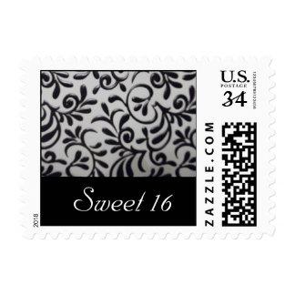 Sweet 16 Damask Swirl Postage Stamp