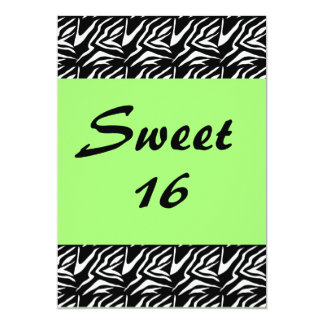 Sweet 16 Damask with Neon Green Card