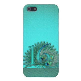 Sweet 16 elegant peacock feather template case for iPhone SE/5/5s