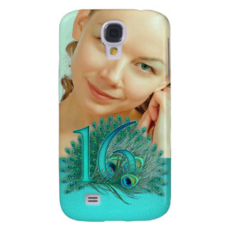 Sweet 16 elegant peacock feather template galaxy s4 cover