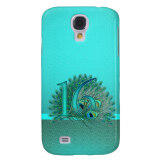 Sweet 16 elegant peacock feather template samsung galaxy s4 cover