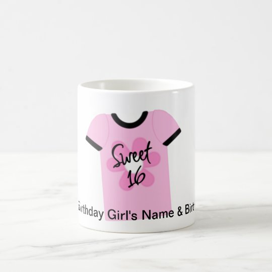 Sweet 16 Flower Power Favors,Gifts,Invites Coffee Mug