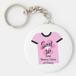 Sweet 16 Flower Power Favors,Gifts,Invites Keychain