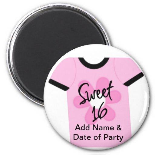 Sweet 16 Flower Power Favors,Gifts,Invites Fridge Magnets