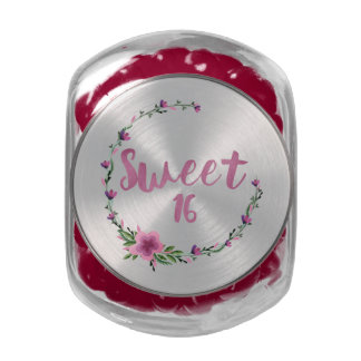 Sweet 16 Flowers Jelly Belly Candy Jars