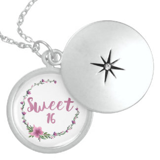 Sweet 16 Flowers Sterling Silver Necklace