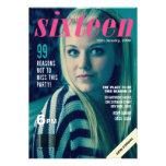Sweet 16 Girls Magazine Cover Photo Invite