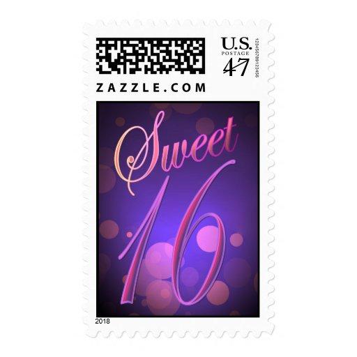 Sweet 16 glamorous postage