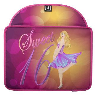 Sweet 16 glamorous pretty girl  MacBook Sleeves