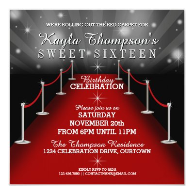 Red carpet party invitations carpet the honoroak glamorous red carpet graduation party invitations zazzle com filmwisefo Gallery