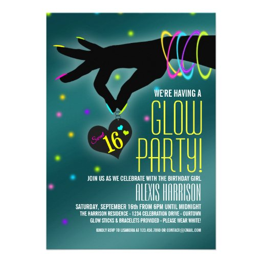 Glow In The Dark Party Invites is great invitations layout