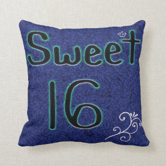 Sweet 16 Glow Throw Pillow