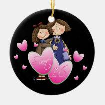 sweet16, birthday, ornament, love, teen, Ornament with custom graphic design
