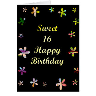 Sweet 16 Happy Birthday Greeting Cards