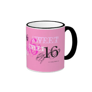 Sweet 16 Happy Birthday for Teen - Pink Mug