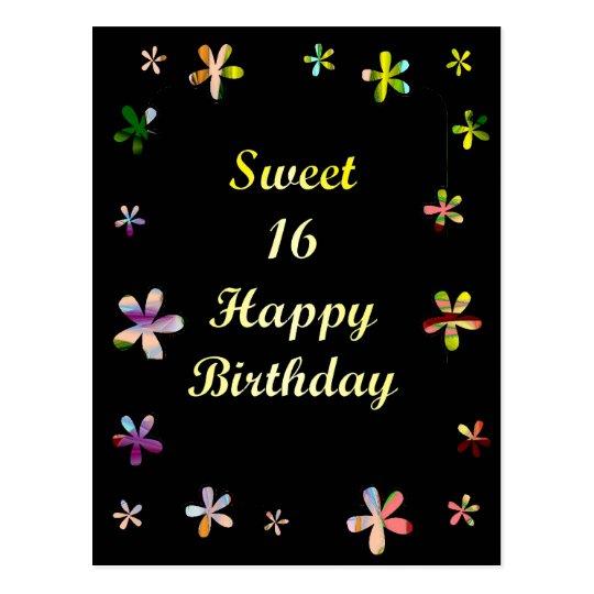 Sweet 16 Happy Birthday Postcard