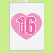 Sweet 16 (Heart) Card