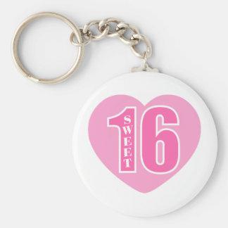 Sweet 16 (Heart) Keychain