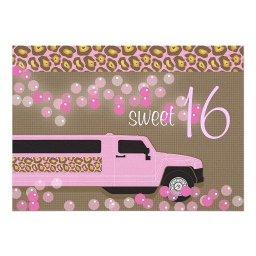 Personalized limo birthday party invitations custominvitations4u sweet 16 invitation stopboris Image collections