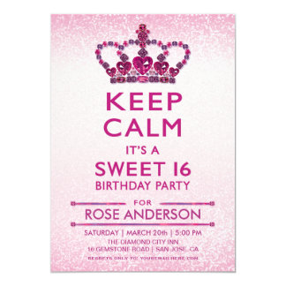 Sweet 16 Invitations | Gems, Jewels, Diamonds
