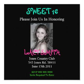 SWEET 16 Invititation Card