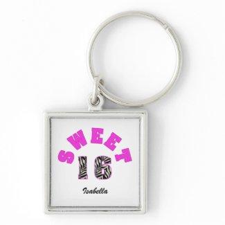 Sweet 16 Keychain keychain