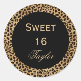Sweet 16 Leopard Sticker
