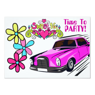sweet 16 limo invitation