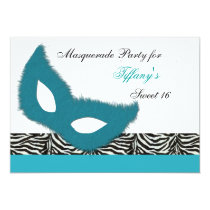 Sweet 16 Masquerade party Invitation