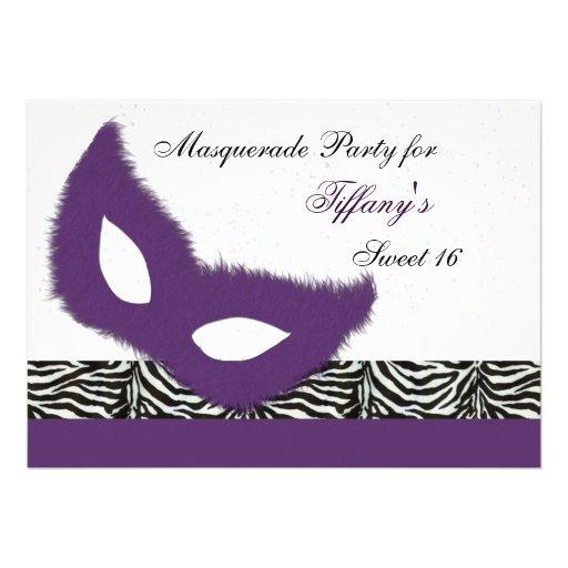 Sweet 16 Masquerade party Invitation