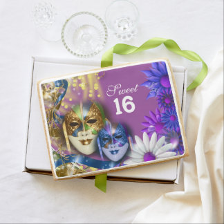Sweet 16 masquerade PERSONALIZE age Jumbo Cookie