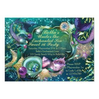 Sweet 16 Mermaid Under the Sea Birthday Invitation