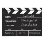 "Sweet 16 movie clapboard 5"" x 7"" invitation card"