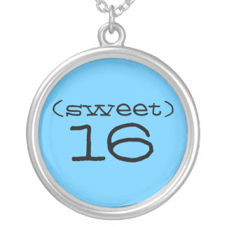 Sweet 16 Necklace in Turquoise and Black