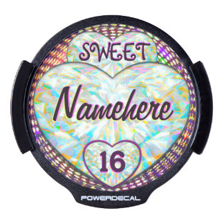 Sweet 16 NEW CAR or Party Decor! Glows! Add Name! LED Window Decal