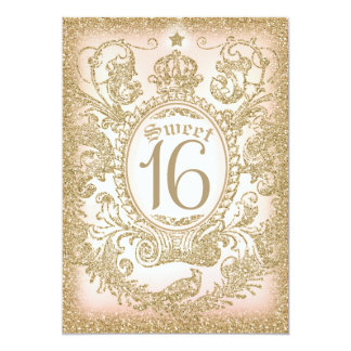 "Sweet 16 Once Upon a Time Princess Invitation 5"" X 7"" Invitation Card"
