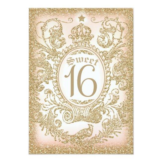 sweet 16 once upon a time princess invitation. Black Bedroom Furniture Sets. Home Design Ideas