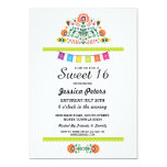 Sweet 16 Party Floral Fiesta Mexican Birthday Invitation