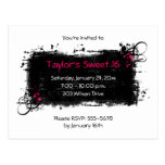 Sweet 16 Party Invitation Postcard