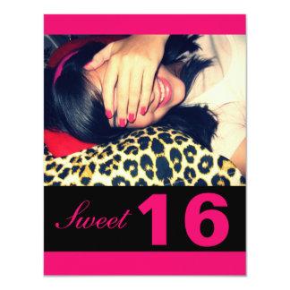 "Sweet 16 Party Invitations 4.25"" X 5.5"" Invitation Card"