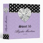 Sweet 16 Photo Album Dot Lace Heart Diamond Purple Binder
