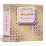 Sweet 16 Photo Album Lattice Leaves Pink Jewel Vinyl Binders