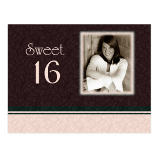 Sweet 16 Photo Invite Postcard