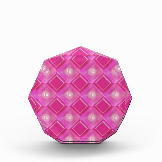 Sweet 16, Pink Diamonds Number Acrylic Award