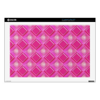 Sweet 16, Pink Diamonds Number Decal For Laptop
