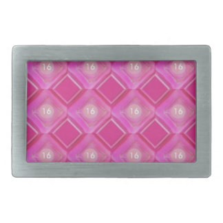 Sweet 16, Pink Diamonds Number Rectangular Belt Buckle