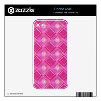 Sweet 16, Pink Diamonds Number Skins For iPhone 4